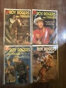 Lot Of 4 - Roy Rogers And Trigger Western Comic Books, 1950s Dell