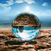 Photography Clear Crystal Ball Sphere Decoration Lens Photo Prop Lensball