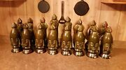 Old Crow Decanter Chess Set Complete 32pc All Empty Without Boxes And No Rugandnbsp
