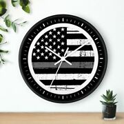 10 Wall Clock - Corrections Officer 2 Hero Law Enforcement Thin Gray Line Gift