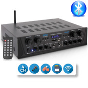 Amplifier Stereo Home Theater Receiver Fits Bluetooth Wireless Streaming Usb/sd