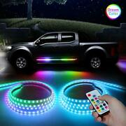2pcs 60inch Rgb Truck Led Running Board Lights Sequential Dream Color Chasing...