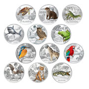 Austria 3 Euro 2016-2019 Animals From All Over The World 12 Coins