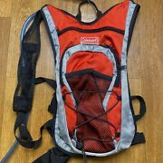 New Coleman Max Hydration Water Backpack 2 Liter With Bladder Red Gray
