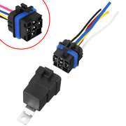 5pcs 12v 30/40a 5-pin Automotive Car Boat Relays With Wire Socket/wiring Harness