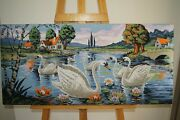 Finished Completed Cross Stitch, Master Piece/ Wall Hang Décor/ Tapestry/pelican