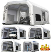 Inflatable Car Spray Paint Booth Portable Auto Job Tent With Ul Blowers 5 Sizes