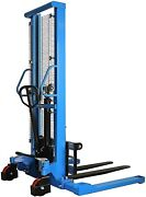 Manual Forklifts Hand Pump Operated Pallet Stackers Lift Trucks 2200 Lb Capacity