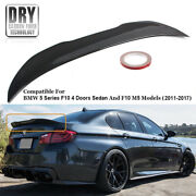 For 2011-17 Bmw F10 5 Series And M5 Carbon Fiber High Kick Big Trunk Spoiler Wing