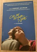 Andre Aciman Signed Book Call Me By Your Name Pb W/extras Gay Cmbyn