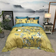 60 Tencel Four-piece Bed Linen Quilt Cover Bedding Double-sided Lyocell Fabric