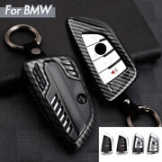 1pc Carbon Fiber Pattern Smart Key Case Shell Cover For Bmw X1 X3 X5 5 7 Series
