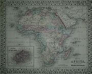 Rare Vintage 1878 Atlas Map Africa Old And Authentic Free Sandh