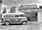 Vintage Dairy Queen Photo Restaurant Sign Burger Joint Delivery Ice Cream Truck