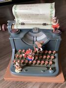 1990 Enesco Multi-action Musical Typewriter All We Want For Christmas - As Is