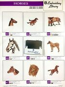 Horses Embroidery Designs Card For Husqvarna Viking Sewing Machines