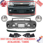 Front Bumper Cover + Valance + Fog Light For 2007-2014 Avalanche / Suburban