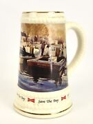 Budweiser Save The Bay Winter Afternoon On Knapps Narrows Lee Boynton Beer Stein