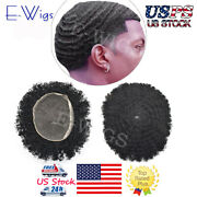 Afro Curly For Black Men Toupee African American Wig 10x8 All Transparent Lace