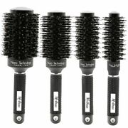 Ceramic Hair Round Brush Heat Resistant Boar Bristle Styling Curling Comb Ionic