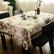 2021 Proud Rose European Chenille Table Cloth Thicken Tablecloths Household