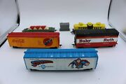 Ho Superman Coke Baby Ruth Advertising Box Cars Flat Bed Tanker And Electricbox