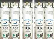 Refrigerant 12 R12 R-12 Five 28 Oz Cans Total Of 8.75 Lbs. Refrigeration