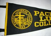 Vintage Pacific Lutheran College Pennant By Chicago Pennant Co. 23 Long