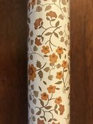 Vintage Rubbermaid Brown Floral Self Adhesive Contact Drawer Liner Jumbo Roll