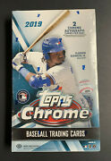 1 2019 Topps Chrome Hobby Box Factory Sealed-look For 2 Autos Per Box
