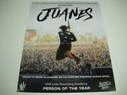Juanes Rockstar And...all-around Amazing Human Being 2019 Promo Poster Ad Mint