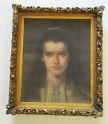 Masterful 19th Century Oil Painting Pretty Female Young Woman Model Heirloom Old