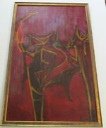Bay Area Abstract Painting Mystery Expressionist Expressionism Modernism 1950and039s