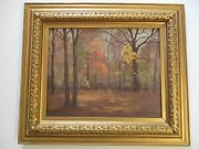 Antique Jacob Euston Oil Painting 19th To 20th Century Illinois Listed Landscape
