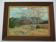 Antique Roland Mcnary Oil Painting Early Old California Impressionist Landscape