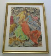 Clarence Keiser Hinkle Painting Antique California Expressionist Modernism Rare