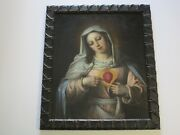 18th To 19th Century Old Master Painting Portrait Museum Quality Female Madonna