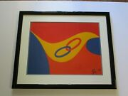 Vintage Alexander Calder Limited Edition Lithograph Abstract Modernism 1970's