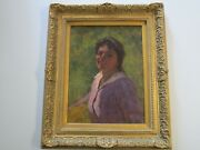 Gordon Coutts American Oil Painting Gorgeous Portrait Woman Early California