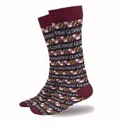 Guinness And Maryland Flag Striped Dress Socks - New Fast Free Ship