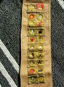 Andnbspboy Scout Sash With Type And039aand039 Square 1911-1933 Merit Badges