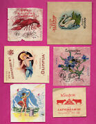 Latvia Lettland Lot Of 10 Old Candy Labels 677