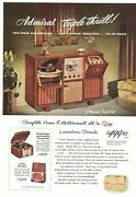 Vintage 1948 Admiral Home Entertainment System Console Print Ad