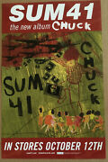 Sum 41 Rare 2004 Promo Poster For Chuck Cd 11x17 Usa Mint Never Displayed