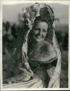 1934 Press Photo Anne Harrison As Guadalupe Ortega In Mission Santa Ines Pageant