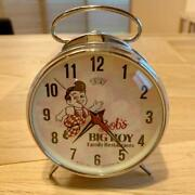 Vintage Big Boy Bobby Boband039s Wind Up Table Clock Collectible Retro Free Shipping