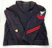 Wwii Us Coast Guard Enlisted Yeoman 2nd Class Working Blue Jumper Top