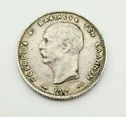 1910 Silver Greece 1 Drachma World Coin Km 60 - Historical And Collectible