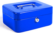 Fireproof Security Box Safe Chest Key Lock Cash Money Document Jewelry Steel Med