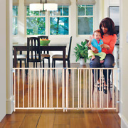 Large Baby Safety Gate Child Dog Pet Fence Extra Wide Swing Gates 5-8 Foot New